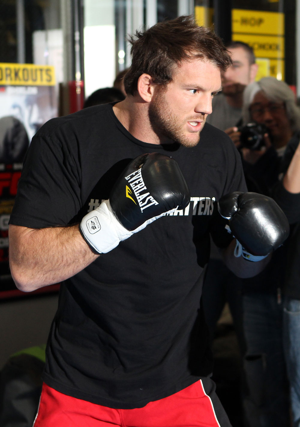 TOKYO, JAPAN - FEBRUARY 22:  Ryan Bader works out for the media during the UFC 144 open workouts at Gold's Gym on February 22, 2012 in Tokyo, Japan.  (Photo by Josh Hedges/Zuffa LLC/Zuffa LLC via Getty Images) *** Local Caption *** Ryan Bader