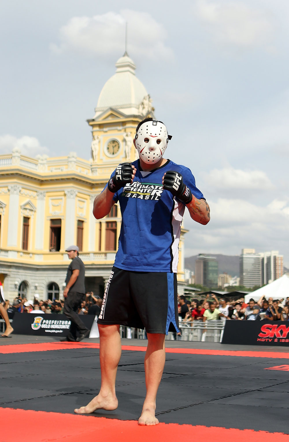 BELO HORIZONTE, BRAZIL - JUNE 20:   Rony Mariano Bezerra poses for a photo during the UFC 147 open workouts at Praca da Estacao on June 20, 2012 in Belo Horizonte, Brazil.  (Photo by Josh Hedges/Zuffa LLC/Zuffa LLC via Getty Images)