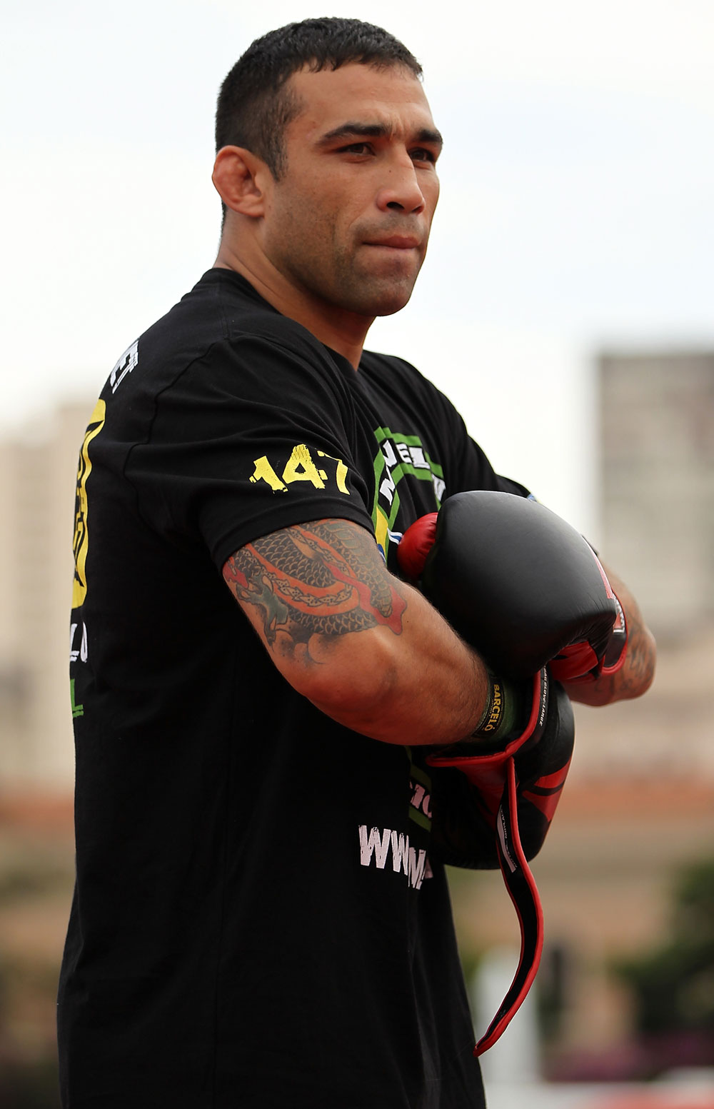 BELO HORIZONTE, BRAZIL - JUNE 20:   Fabricio Werdum works out for the fans and media during the UFC 147 open workouts at Praca da Estacao on June 20, 2012 in Belo Horizonte, Brazil.  (Photo by Josh Hedges/Zuffa LLC/Zuffa LLC via Getty Images)