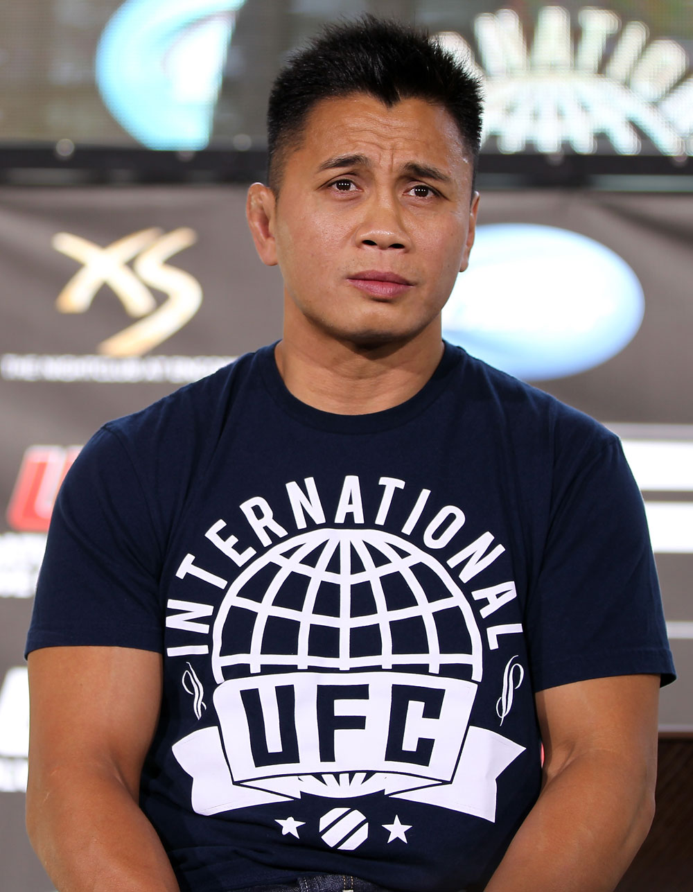 LAS VEGAS, NV - JULY 5:   Cung Le attends a pre-fight news conference before the UFC 148 Open Workouts inside XS nightclub at the Encore on July 5, 2012 in Las Vegas, Nevada.  (Photo by Josh Hedges/Zuffa LLC/Zuffa LLC via Getty Images)