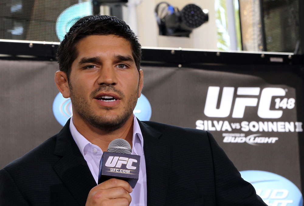 LAS VEGAS, NV - JULY 5:   Patrick Cote attends a pre-fight news conference before the UFC 148 Open Workouts inside XS nightclub at the Encore on July 5, 2012 in Las Vegas, Nevada.  (Photo by Josh Hedges/Zuffa LLC/Zuffa LLC via Getty Images)