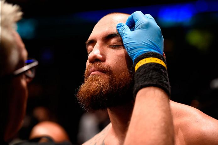 CLEVELAND, OH - SEPTEMBER 10:  Travis Browne prepares to enter the Octagon prior to facing Fabricio Werdum of Brazil in their heavyweight bout during the UFC 203 event at Quicken Loans Arena on September 10, 2016 in Cleveland, Ohio. (Photo by Josh Hedges/Zuffa LLC/Zuffa LLC via Getty Images)