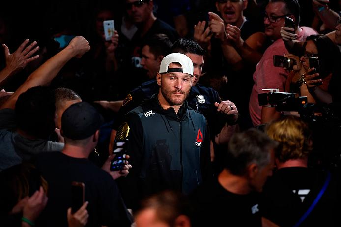 CLEVELAND, OH - SEPTEMBER 10:  Stipe Miocic enters the arena prior to facing Alistair Overeem of The Netherlands in their UFC heavyweight championship bout during the UFC 203 event at Quicken Loans Arena on September 10, 2016 in Cleveland, Ohio. (Photo by Josh Hedges/Zuffa LLC/Zuffa LLC via Getty Images)