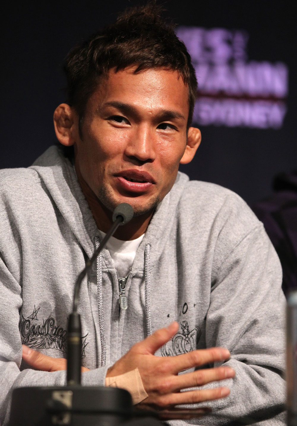 SYDNEY, AUSTRALIA - MARCH 01:  Yashuhiro Urushitani attends the UFC on FX press conference at the Star Casino on March 1, 2012 in Sydney, Australia.  (Photo by Josh Hedges/Zuffa LLC/Zuffa LLC via Getty Images) *** Local Caption *** Yashuhiro Urushitani