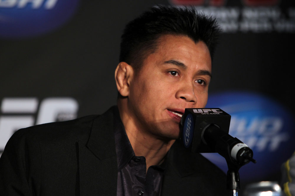 SAN FRANCISCO, CA - NOVEMBER 17:  Cung Le attends the UFC 139 pre-fight press conference at the Fort Mason Center on November 17, 2011 in San Francisco, California.  (Photo by Josh Hedges/Zuffa LLC/Zuffa LLC via Getty Images)