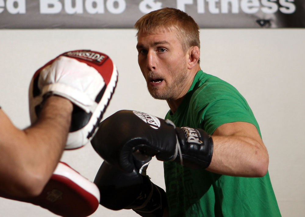 STOCKHOLM, SWEDEN - APRIL 11:  Alexander Gustafsson works out for the media during the UFC open workouts at Pancrase Gym on April 11, 2012 in Stockholm, Sweden.  (Photo by Josh Hedges/Zuffa LLC/Zuffa LLC via Getty Images)