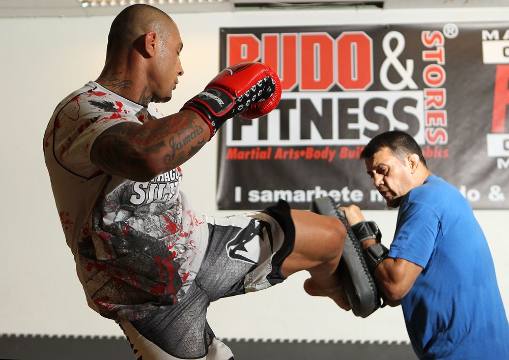 STOCKHOLM, SWEDEN - APRIL 11:  Thiago Silva of Brazil works out for the media during the UFC open workouts at Pancrase Gym on April 11, 2012 in Stockholm, Sweden.  (Photo by Josh Hedges/Zuffa LLC/Zuffa LLC via Getty Images)