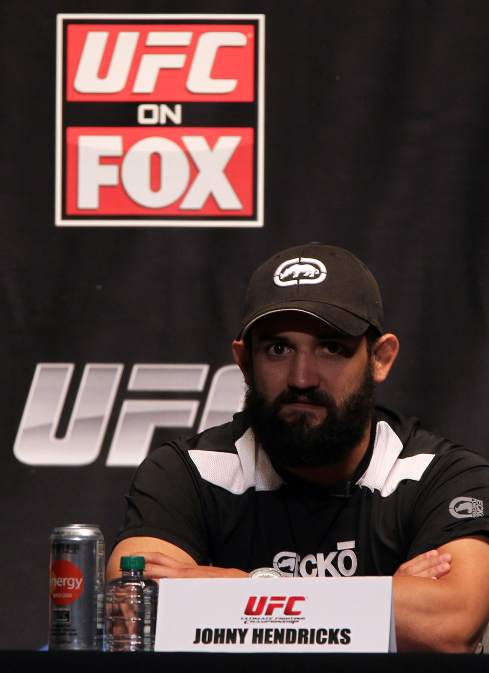 NEW YORK, NY - MAY 03:  Johny Hendricks attends the UFC on FOX pre-fight press conference at Beacon Theatre on May 3, 2012 in New York City.  (Photo by Josh Hedges/Zuffa LLC/Zuffa LLC via Getty Images)