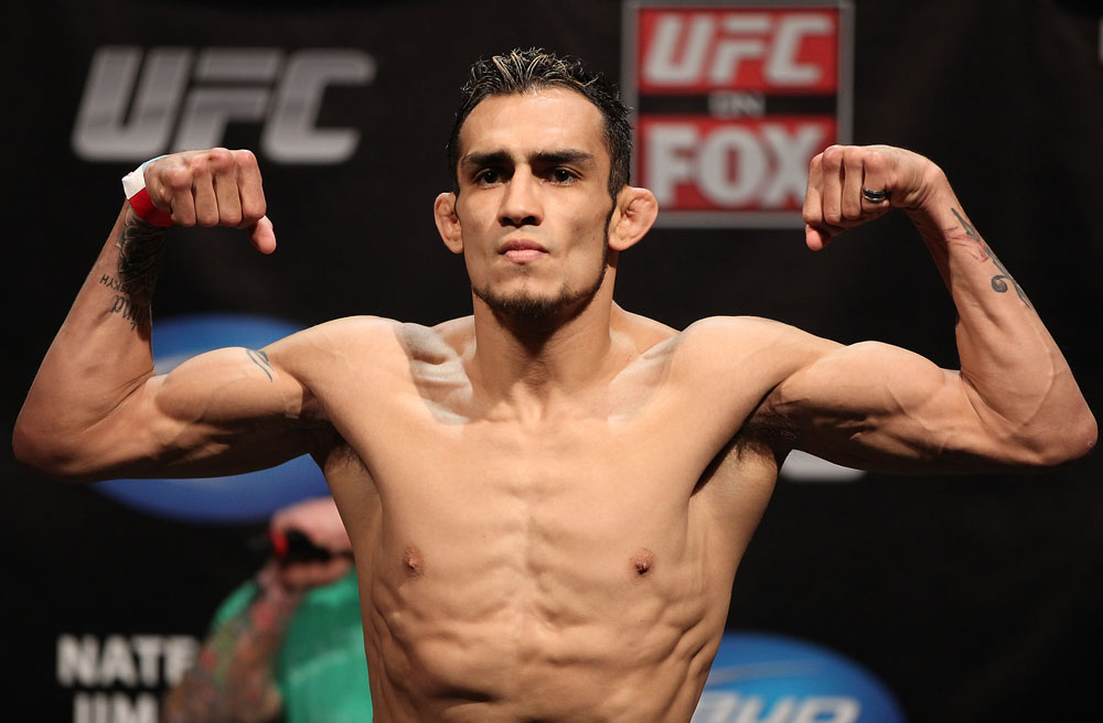 EAST RUTHERFORD, NJ - MAY 04:  Tony Ferguson weighs in during the UFC on FOX official weigh in at Izod Center on May 4, 2012 in East Rutherford, New Jersey.  (Photo by Josh Hedges/Zuffa LLC/Zuffa LLC via Getty Images)