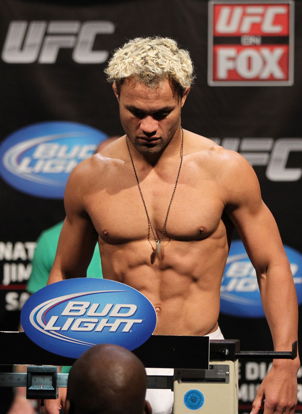 EAST RUTHERFORD, NJ - MAY 04:  Josh Koscheck weighs in during the UFC on FOX official weigh in at Izod Center on May 4, 2012 in East Rutherford, New Jersey.  (Photo by Josh Hedges/Zuffa LLC/Zuffa LLC via Getty Images)