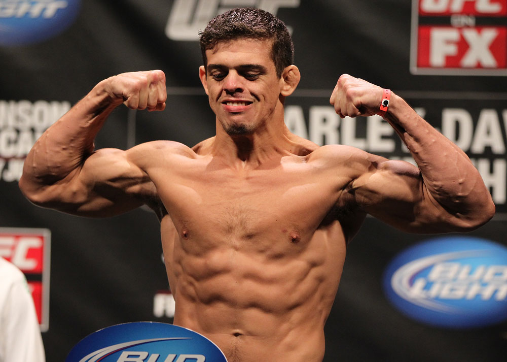 SUNRISE, FL - JUNE 07:   Caio Magalhaes makes weight during the UFC on FX 3 official weigh in at Bank Atlantic Center on June 7, 2012 in Sunrise, Florida.  (Photo by Josh Hedges/Zuffa LLC/Zuffa LLC via Getty Images)