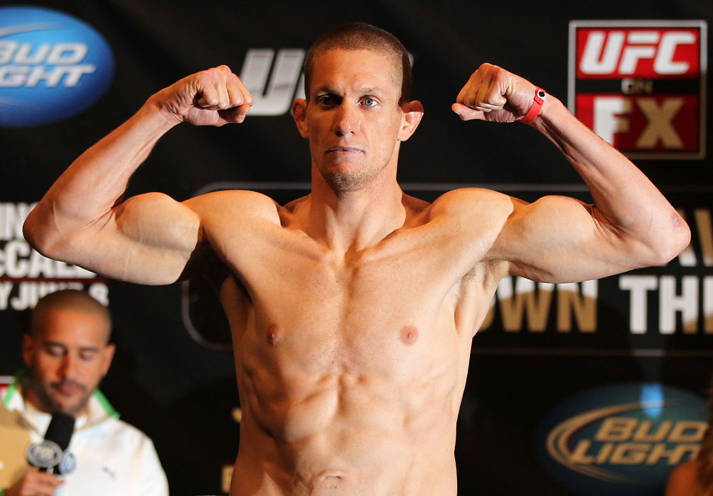 SUNRISE, FL - JUNE 07:   Seth Baczynski makes weight during the UFC on FX 3 official weigh in at Bank Atlantic Center on June 7, 2012 in Sunrise, Florida.  (Photo by Josh Hedges/Zuffa LLC/Zuffa LLC via Getty Images)