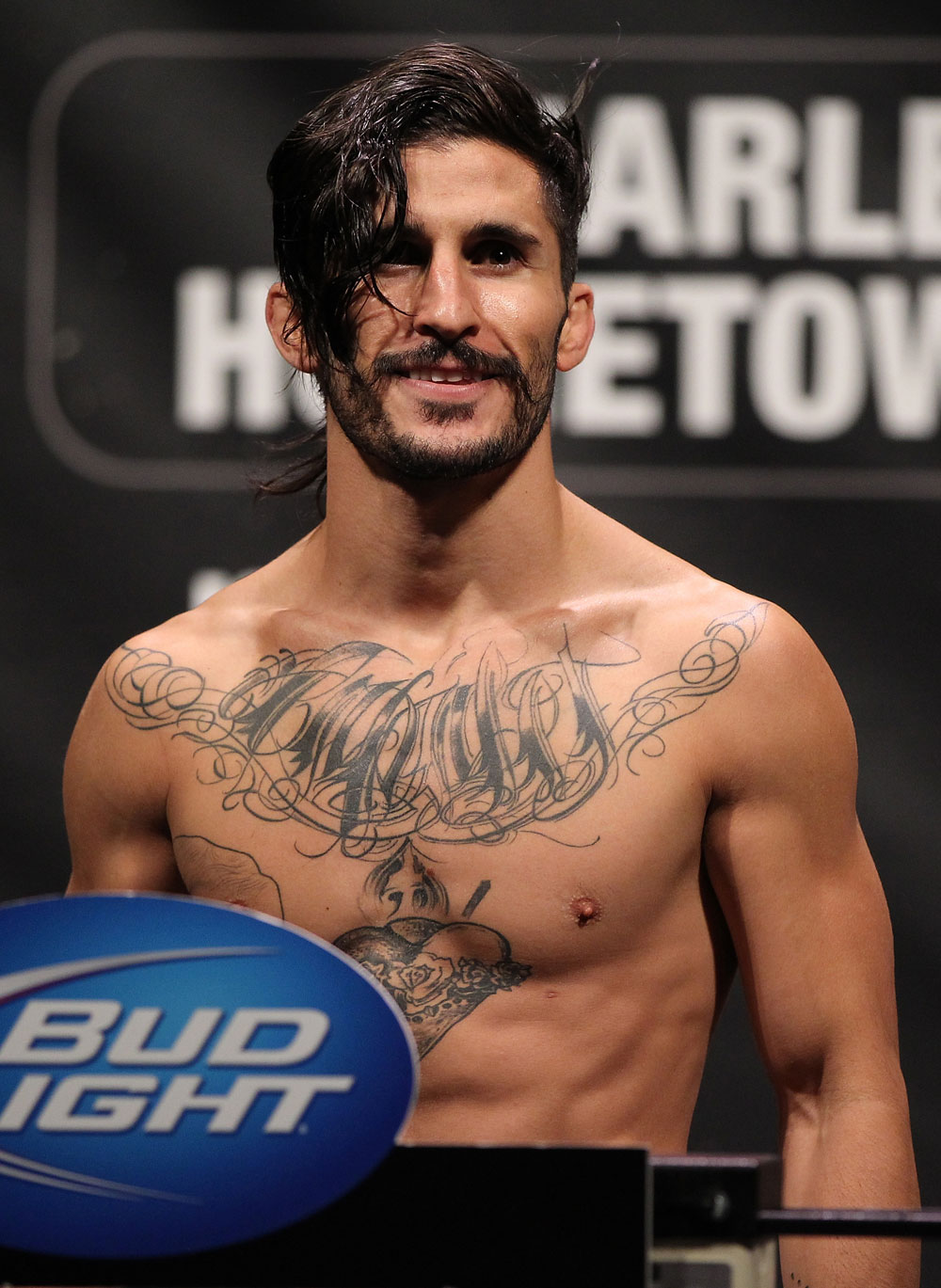 SUNRISE, FL - JUNE 07:   Ian McCall makes weight during the UFC on FX 3 official weigh in at Bank Atlantic Center on June 7, 2012 in Sunrise, Florida.  (Photo by Josh Hedges/Zuffa LLC/Zuffa LLC via Getty Images)