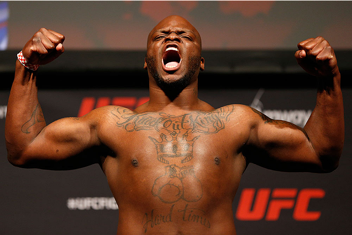 ORLANDO, FL - APRIL 18:  Derrick Lewis weighs in during the FOX UFC Saturday weigh-in at the Amway Center on April 18, 2014 in Orlando, Florida. (Photo by Josh Hedges/Zuffa LLC/Zuffa LLC via Getty Images)