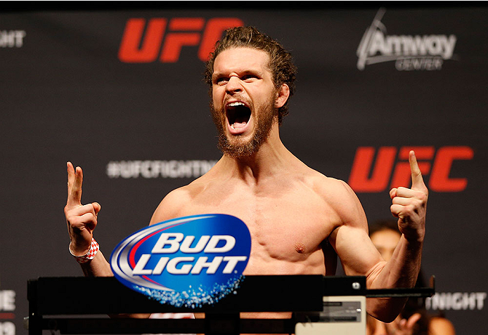 ORLANDO, FL - APRIL 18:  Dustin Ortiz weighs in during the FOX UFC Saturday weigh-in at the Amway Center on April 18, 2014 in Orlando, Florida. (Photo by Josh Hedges/Zuffa LLC/Zuffa LLC via Getty Images)
