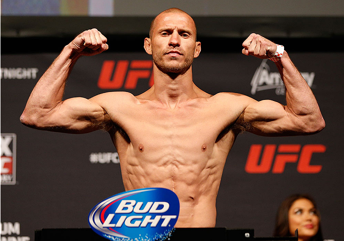 "ORLANDO, FL - APRIL 18:  Donald ""Cowboy"" Cerrone weighs in during the FOX UFC Saturday weigh-in at the Amway Center on April 18, 2014 in Orlando, Florida. (Photo by Josh Hedges/Zuffa LLC/Zuffa LLC via Getty Images)"