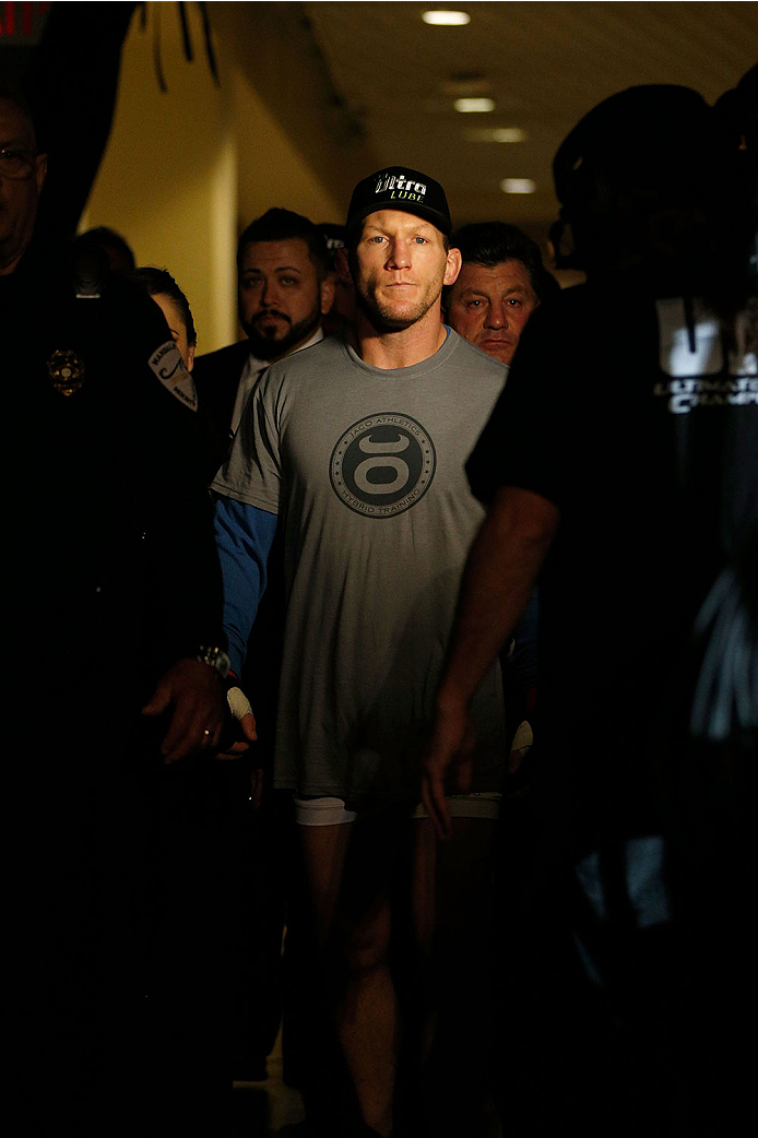 LAS VEGAS, NV - NOVEMBER 30:  Gray Maynard enters the arena before his fight against Nate Diaz in their lightweight fight during The Ultimate Fighter season 18 live finale inside the Mandalay Bay Events Center on November 30, 2013 in Las Vegas, Nevada. (Photo by Josh Hedges/Zuffa LLC/Zuffa LLC via Getty Images) *** Local Caption *** Gray Maynard