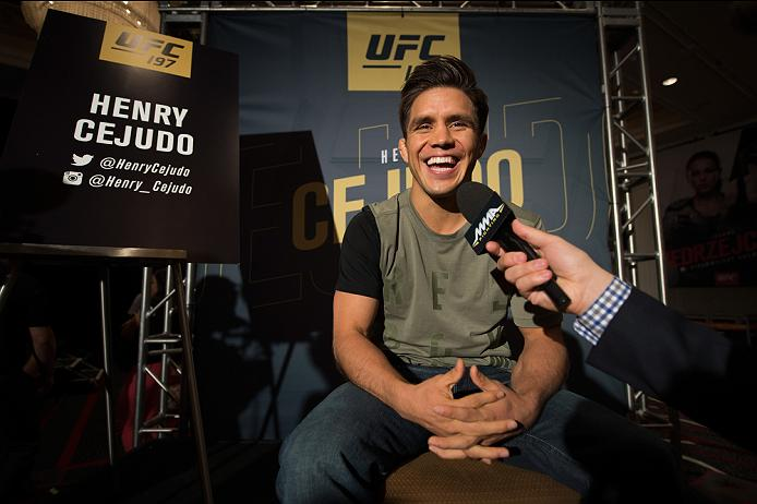 LAS VEGAS, NEVADA - APRIL 21:  Henry Cejudo speaks to the media during the UFC 197: Ultimate Media Day at MGM Grand Hotel & Casino on April 21, 2016 in Las Vegas Nevada. (Photo by Brandon Magnus/Zuffa LLC/Zuffa LLC via Getty Images)