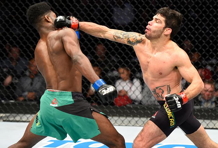 Assuncao vs Sterling, January 2017 (Photo by Josh Hedges/Zuffa LLC)