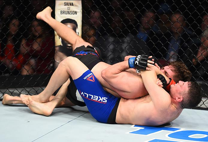 Chas Skelly submits Chris Gruetzemacher in his most recent win in February, 2017