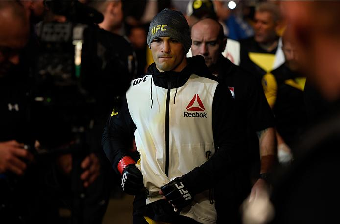 MANCHESTER, ENGLAND - OCTOBER 08:  Mirsad Bektic of Bosnia prepares to enter the octagon before facing Russell Doane in their featherweight bout during the UFC 204 Fight Night at the Manchester Evening News Arena on October 8, 2016 in Manchester, England. (Photo by Josh Hedges/Zuffa LLC/Zuffa LLC via Getty Images)