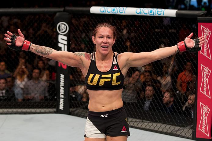 Cris Cyborg in the Octagon
