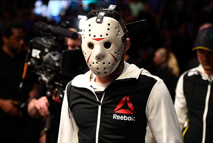 <a href='../fighter/Rony-Jason'>Rony Jason</a> prepares to enter the Octagon when he took on <a href='../fighter/Dennis-Bermudez'>Dennis Bermudez</a> at Fight Night Salt Lake City