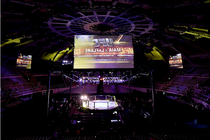 RIO DE JANEIRO, BRAZIL - MARCH 21: General view of Maracanazinho prior to the UFC Fight Night: Maia v LaFlare on March 21, 2015 in Rio de Janeiro, Brazil. (Photo by Buda Mendes/Zuffa LLC/Zuffa LLC via Getty Images)
