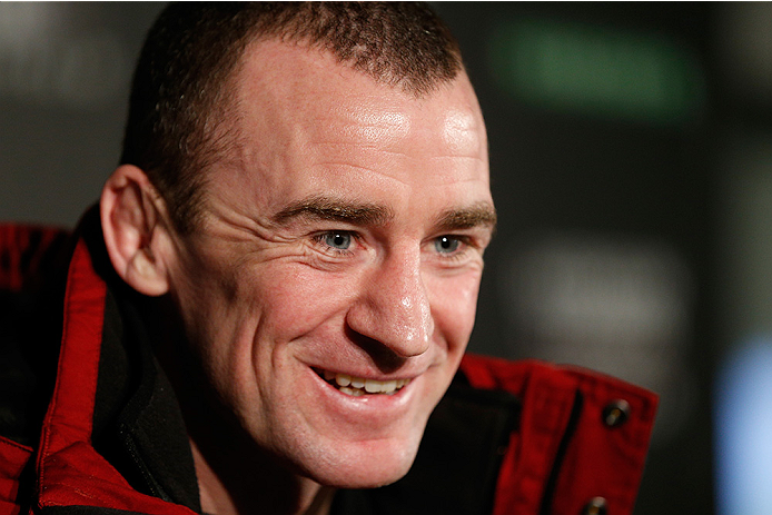 STOCKHOLM, SWEDEN - JANUARY 21:  Neil Seery of Ireland interacts with media during the UFC Ultimate Media Day at the Tele2 Arena on January 21, 2015 in Stockholm, Sweden. (Photo by Josh Hedges/Zuffa LLC/Zuffa LLC via Getty Images)