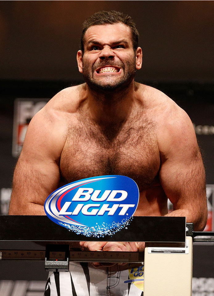 CHICAGO, IL - JANUARY 24:  Gabriel Gonzaga weighs in during the UFC weigh-in event at the Chicago Theatre on January 24, 2014 in Chicago, Illinois. (Photo by Josh Hedges/Zuffa LLC/Zuffa LLC via Getty Images)