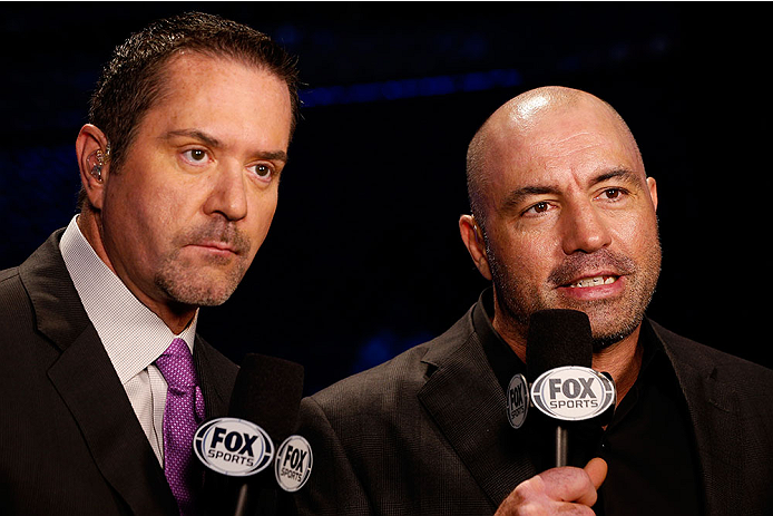 Rogan (right) with Mike Goldberg