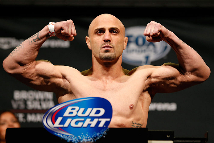 CINCINNATI, OH - MAY 09:  Manny Gamburyan weighs in during the UFC weigh-in at the U.S. Bank Arena on May 9, 2014 in Cincinnati, Ohio. (Photo by Josh Hedges/Zuffa LLC/Zuffa LLC via Getty Images)