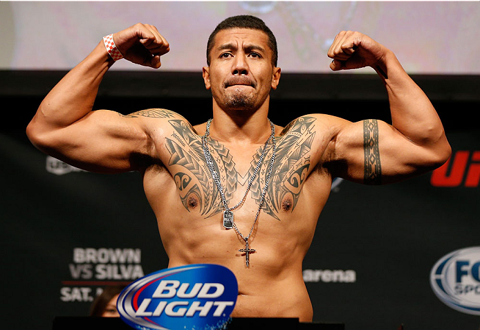 CINCINNATI, OH - MAY 09:  Soa Palelei weighs in during the UFC weigh-in at the U.S. Bank Arena on May 9, 2014 in Cincinnati, Ohio. (Photo by Josh Hedges/Zuffa LLC/Zuffa LLC via Getty Images)