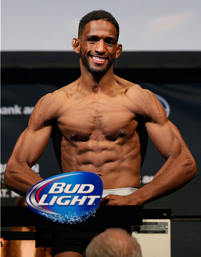 CINCINNATI, OH - MAY 09:  Neil Magny weighs in during the UFC weigh-in at the U.S. Bank Arena on May 9, 2014 in Cincinnati, Ohio. (Photo by Josh Hedges/Zuffa LLC/Zuffa LLC via Getty Images)