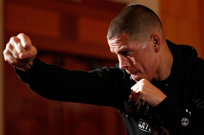 Number one lightweight contender Nate Diaz