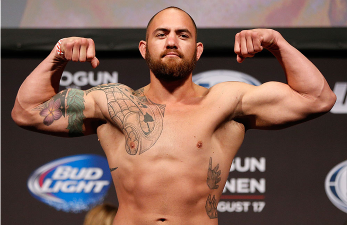 BOSTON, MA - AUGUST 16:  Travis Browne weighs in during the UFC weigh-in inside TD Garden on August 16, 2013 in Boston, Massachusetts. (Photo by Josh Hedges/Zuffa LLC/Zuffa LLC via Getty Images)