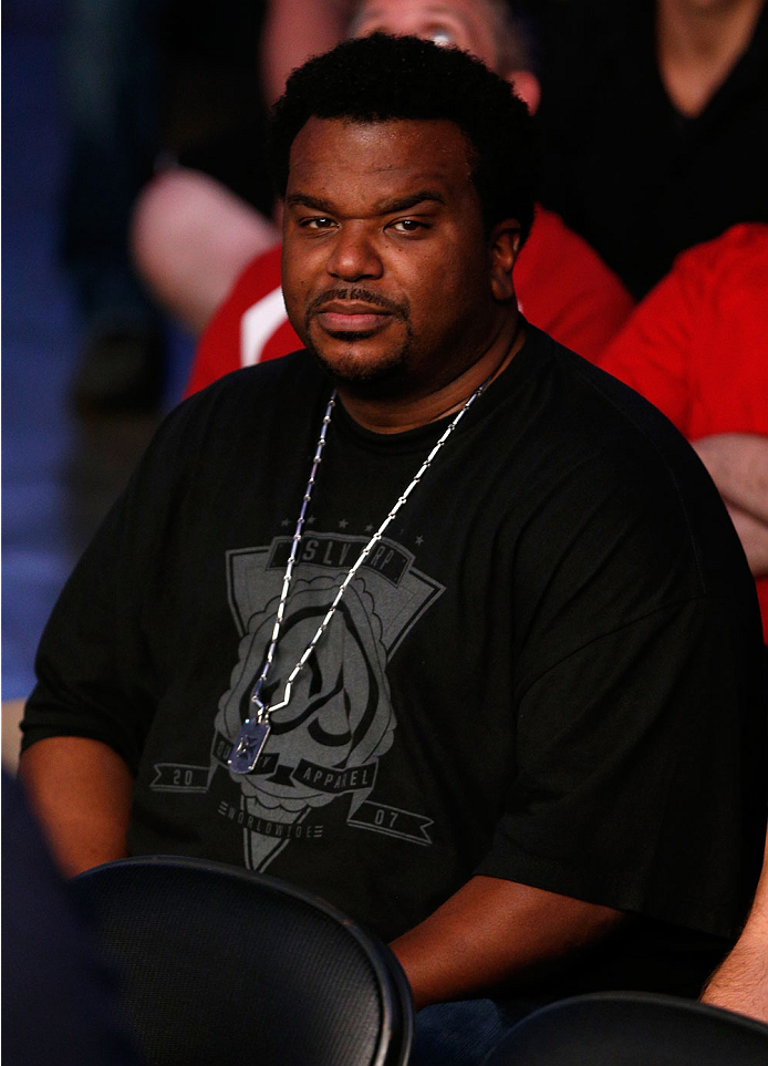 BOSTON, MA - AUGUST 17:  Actor Craig Robinson attends the UFC on FOX Sports 1 event at TD Garden on August 17, 2013 in Boston, Massachusetts. (Photo by Josh Hedges/Zuffa LLC/Zuffa LLC via Getty Images)