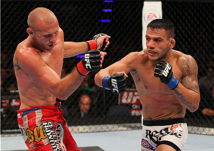 Cerrone vs Dos Anjos in 2013 (Photo by Ed Mulholland/Zuffa LLC)
