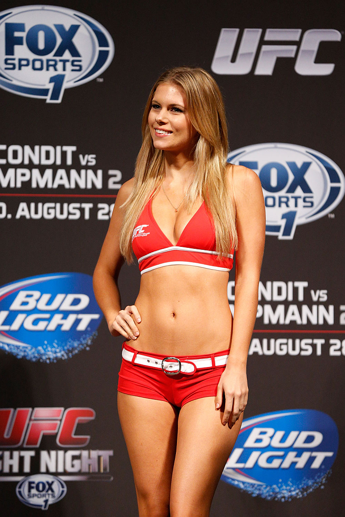 Read this Ufc ring girls chrissy blair touching words