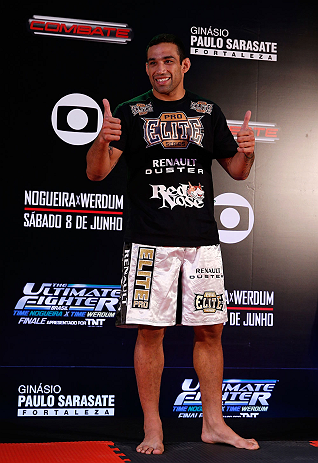 FORTALEZA, BRAZIL - JUNE 06:  Fabricio Werdum holds an open training session for media at Centro de Eventos do Ceara on June 6, 2013 in Fortaleza, Ceara, Brazil.  (Photo by Josh Hedges/Zuffa LLC/Zuffa LLC via Getty Images)