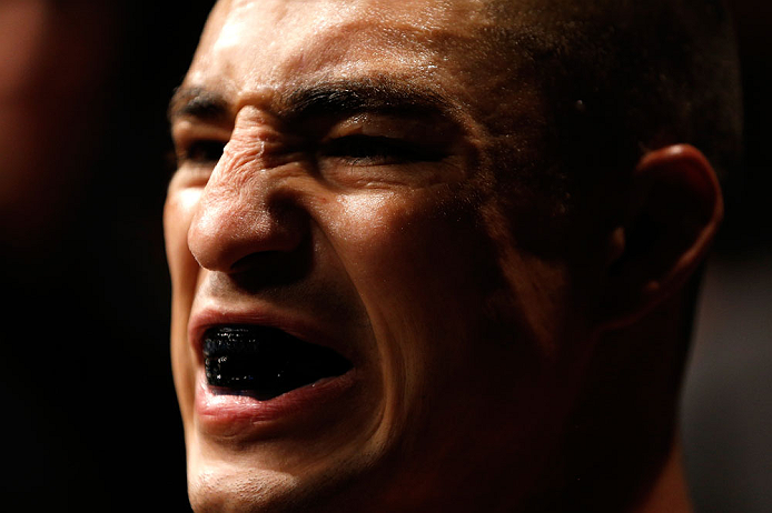 SAITAMA, JAPAN - MARCH 03:  Diego Sanchez prepares to enter the Octagon before his lightweight fight against Takanori Gomi during the UFC on FUEL TV event at Saitama Super Arena on March 3, 2013 in Saitama, Japan.  (Photo by Josh Hedges/Zuffa LLC/Zuffa LLC via Getty Images)