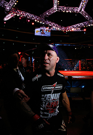 SAITAMA, JAPAN - MARCH 03:  Wanderlei Silva exits the arena after knocking out Brian Stann in their light heavyweight fight during the UFC on FUEL TV event at Saitama Super Arena on March 3, 2013 in Saitama, Japan.  (Photo by Josh Hedges/Zuffa LLC/Zuffa LLC via Getty Images)