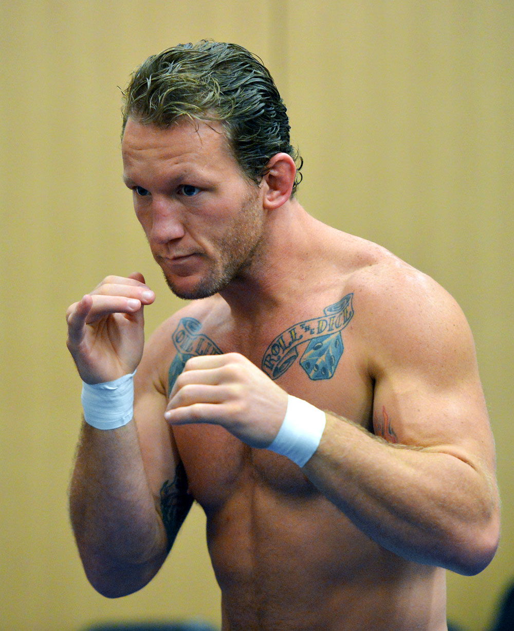 ATLANTIC CITY, NJ - JUNE 20: Gray Maynard trains during an open workout prior to UFC on FX at Revel Casino in Atlantic City, New Jersey. (Photo by Drew Hallowell/Zuffa LLC/Zuffa LLC via Getty Images)