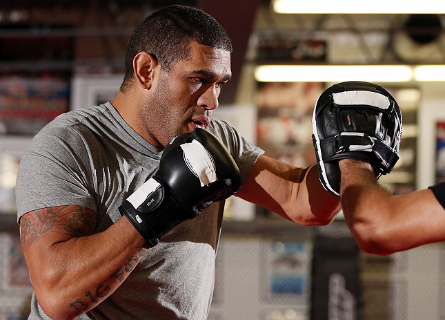 MINNEAPOLIS, MN - OCTOBER 02:  Antonio Silva works out for media and fans during an open training session at Cellar Kickboxing and Martial Arts on October 2, 2012 in Minneapolis, Minnesota.  (Photo by Josh Hedges/Zuffa LLC/Zuffa LLC via Getty Images)