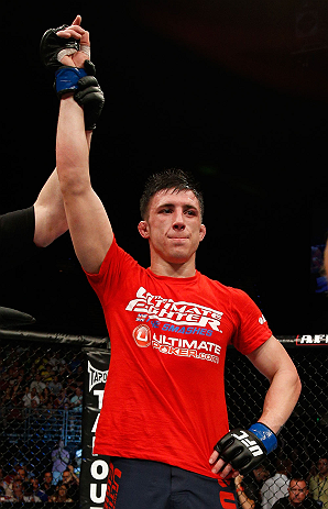 GOLD COAST, AUSTRALIA - DECEMBER 15:  Norman Parke reacts after defeating Colin Fletcher during their lightweight fight at the UFC on FX event on December 15, 2012  at Gold Coast Convention and Exhibition Centre in Gold Coast, Australia.  (Photo by Josh Hedges/Zuffa LLC/Zuffa LLC via Getty Images)