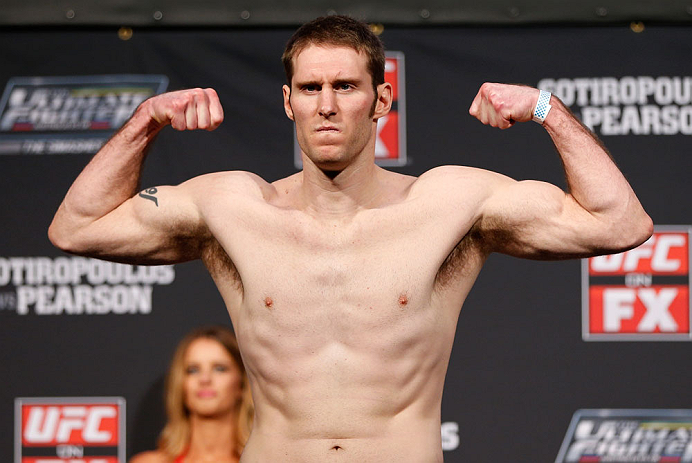 GOLD COAST, AUSTRALIA - DECEMBER 14:  Nick Penner weighs in during the UFC on FX weigh in on December 14, 2012 at Gold Coast Convention and Exhibition Centre in Gold Coast, Queensland, Australia.  (Photo by Josh Hedges/Zuffa LLC/Zuffa LLC via Getty Images)