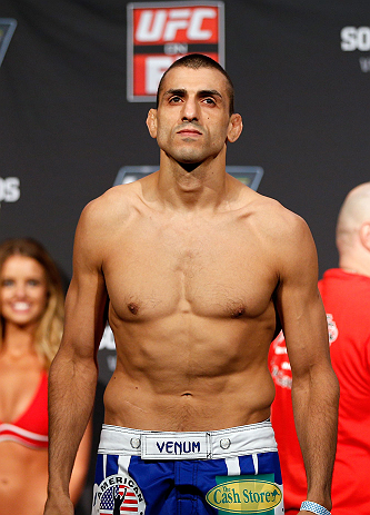 GOLD COAST, AUSTRALIA - DECEMBER 14:  George Sotiropoulos weighs in during the UFC on FX weigh in on December 14, 2012 at Gold Coast Convention and Exhibition Centre in Gold Coast, Queensland, Australia.  (Photo by Josh Hedges/Zuffa LLC/Zuffa LLC via Getty Images)