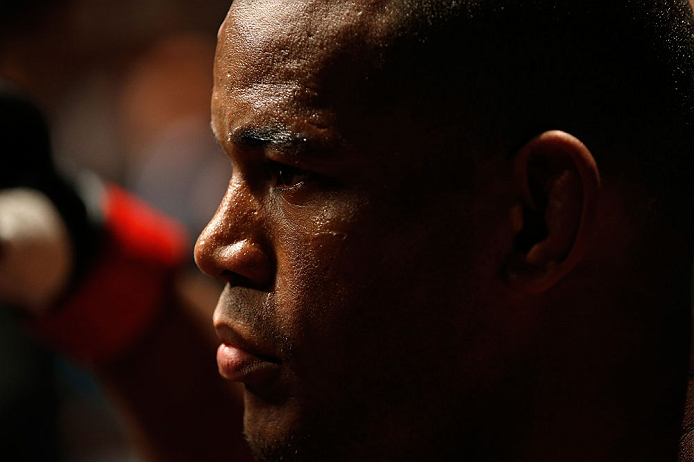 GOLD COAST, AUSTRALIA - DECEMBER 15:  Hector Lombard prepares to enter the Octagon before his middleweight fight against Rousimar Palhares at the UFC on FX event on December 15, 2012  at Gold Coast Convention and Exhibition Centre in Gold Coast, Australia.  (Photo by Josh Hedges/Zuffa LLC/Zuffa LLC via Getty Images)