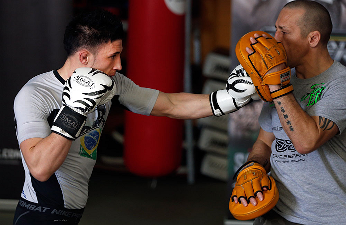 GOLD COAST, AUSTRALIA - DECEMBER 13:  Norman Parke works out for the media during the UFC on FX open workouts on December 13, 2012 at Boonchu Gym in Gold Coast, Australia.  (Photo by Josh Hedges/Zuffa LLC/Zuffa LLC via Getty Images)
