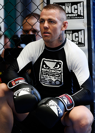 GOLD COAST, AUSTRALIA - DECEMBER 13:  Ross Pearson works out for the media during the UFC on FX open workouts on December 13, 2012 at Boonchu Gym in Gold Coast, Australia.  (Photo by Josh Hedges/Zuffa LLC/Zuffa LLC via Getty Images)